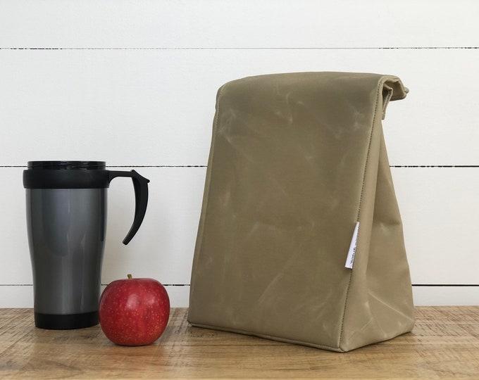 Bone Reusable Waxed Canvas Lunch Bag