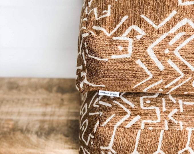 Floor Cushion Cover - Mudcloth Woven