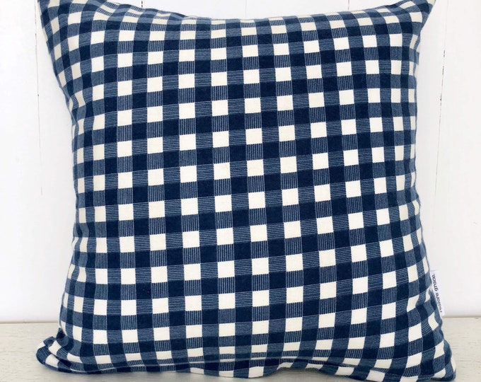 SALE - Blue Plaid Hunting kids cushion cover