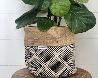 Modern Wanderer Reversible Hessian Planter Bag