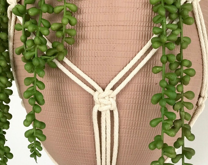 Chain Knot 4mm Cotton Macrame Plant Hanger