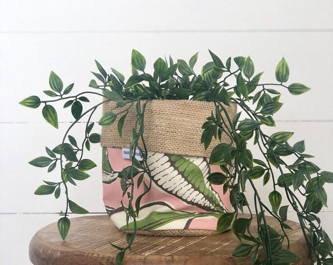 Jungle Jive Reversible Hessian Pot Plant Bag