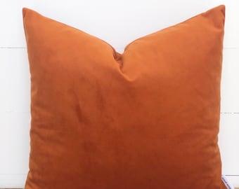Rust Velvet Cushion Cover