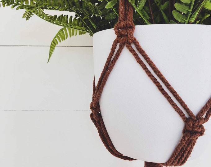 Spice Macrame Plant Hanger with 4mm Cotton Cord