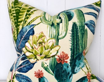 CLEARANCE** Cactus Garden Hatteras Cushion Cover