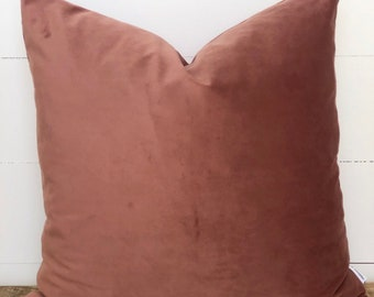 Blush Velvet Cushion Cover
