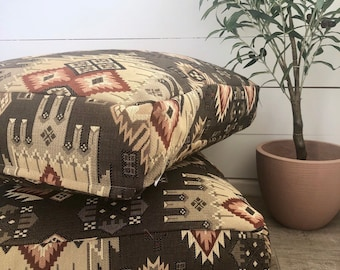 Tundra Southwest Woven Floor Cushion Cover