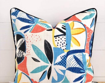 Disco Indoor/Outdoor Cushion Cover with Black Piping