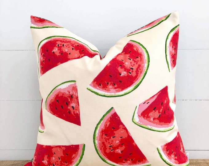 Outdoor Cushion Cover - Watermelon Splash Cushion Cover