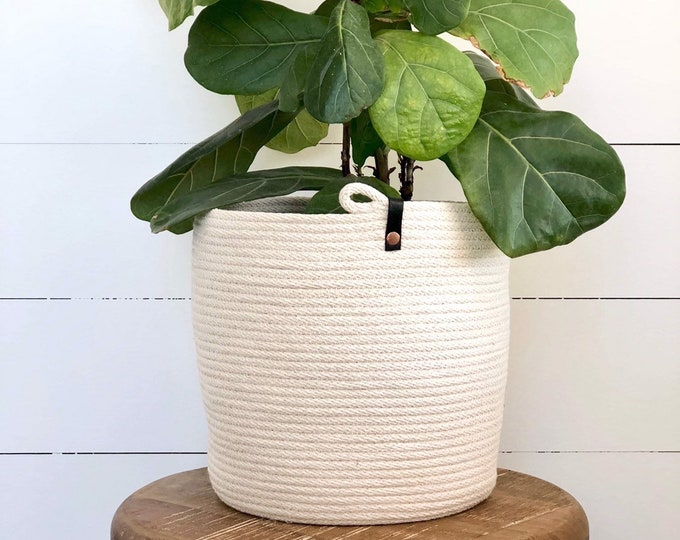 Cotton Rope Planter Pots 220mm