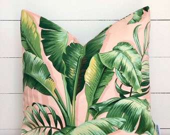 Outdoor Cushion Cover - Blush Palms