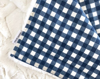 Blue Flannel Plaid Adventure Baby Boy Pram Blanket