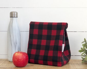Tradie Check Reusable Waxed Canvas Lunch Bag