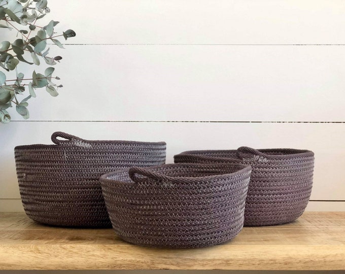 Hand dyed cotton Rope Bowls