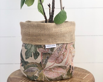 LIMITED EDITION Jungle Paradise Hessian Reversible Pot Plant Cover