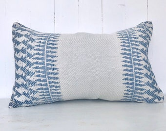SALE - Aztec Blue Tribal Rectangle Cushion Cover