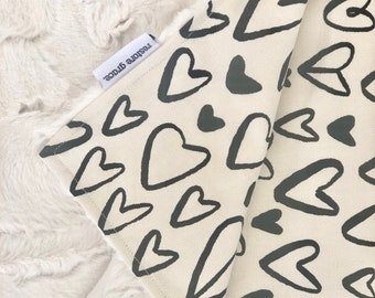 Baby pram blanket - Hearts