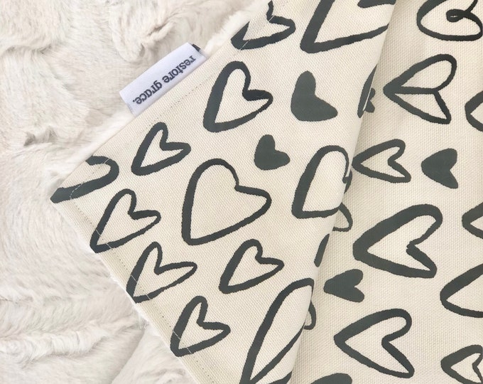 I Heart You Baby Pram Blanket