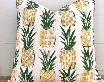 Tropical Punch Indoor/Outdoor Cushion Cover with Green seeds Backing