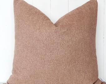 Twilight Rose Gold Chenille Cushion Cover