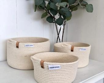 Tan & Brass Rope Bowls