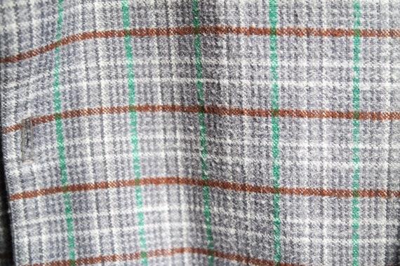 Chemise de de Chemise flanelle/chemise de travail/chemise de bûcheron gris-rouge-vert France vintage 70s 02af4a