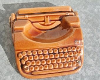 Vintage 50s Japy typewriter advertising ashtray
