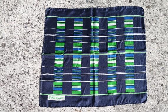 Vintage 70s Yves Saint Laurent France silk scarf