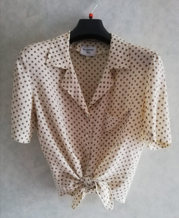 1980s Blumarine shirt