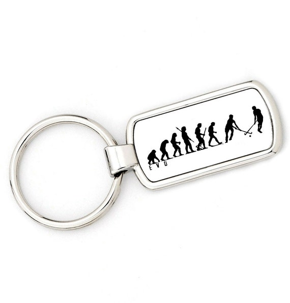 Womans Evolution APE TO FIELD HOCKEY Key Ring  brand new original gift//present