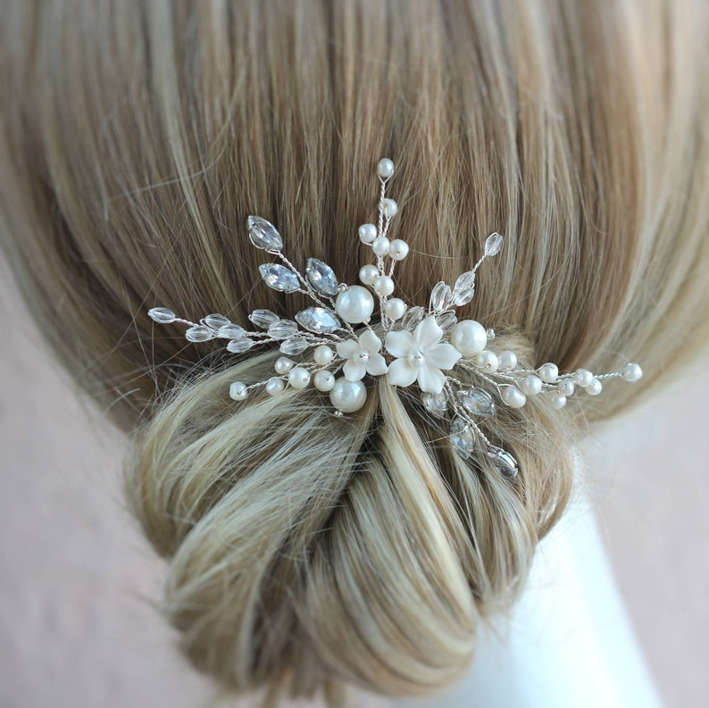 Wedding headpiece Flower hair pin Wedding hair accessories Bridal hair flower Bride hair piece flower Wedding hair pins