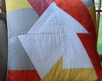 """Quilted pillow cover """"Wonky Star Pillow Cover"""""""