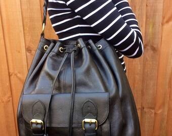 c3238e5a87e Stunning vintage style premium leather Moroccan shoulder hobo bag