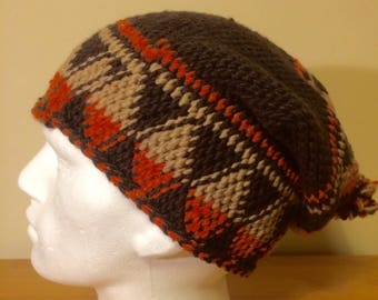 fe3b6718757 Hand made warm long Moroccan unisex hat