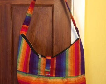 Gorgeous Rainbow Moroccan single strap shoulder bag