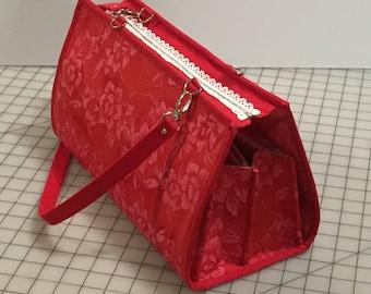 Quilters Organizer Bag, Beading organizer, jewelry making bag (Tutorial, PDF)