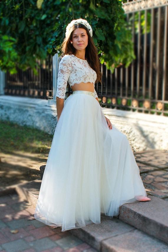 Ivory Tulle Skirtlong Tulle Skirt Womenbridal Tutusskirt