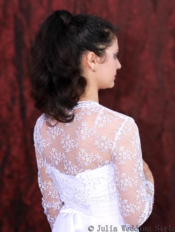Bridal Bolero White Long Sleeve Boleroe Ening Bolero Shrug Etsy