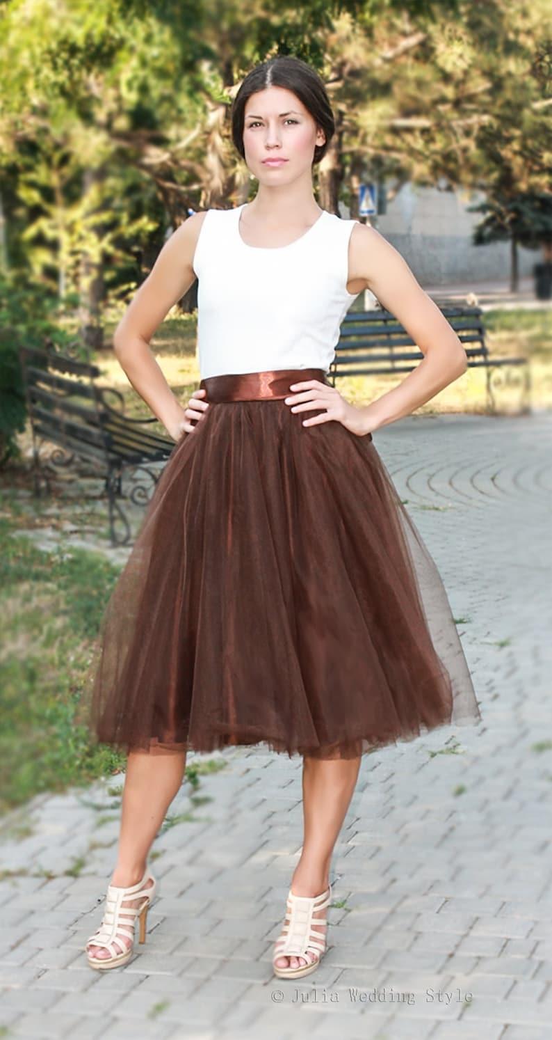 c864bf7e Spódnica Tiul, czekoladowy brąz Tiulowa spódnica, krótka spódnica Tutu,  Długość podłogi Tutu spódnicy, Tutu dorosłych, balet spódnica, ...