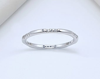 Silver Adjustable Wire Ring Delicate Silver Stack Ring Subtle Aesthetic Ring