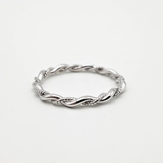 925 Sterling Silver Twist Ring |  Stacking Ring | Cute Silver Ring | Rope Ring | Womens Silver Band by Etsy