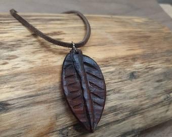 Cocobolo Leaf Pendant