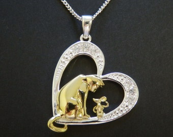 Best Friends Cat Pendant