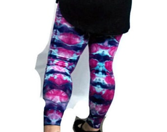 34eee9dbfe6083 Pink and purple yoga leggings - Tie dye leggings - Mermaid leggings women -  Festival clothing - Small