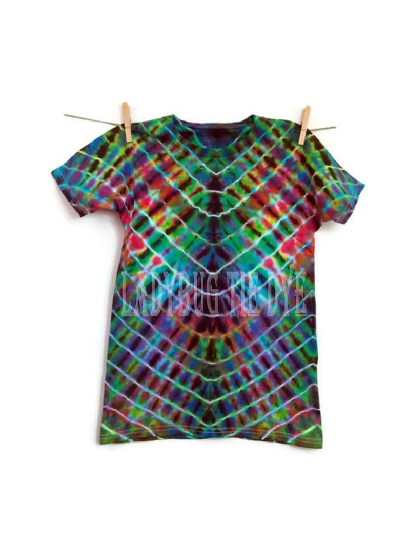 68f8000d Kids tie dye shirt Black rainbow tye dye Boho hippie   Etsy