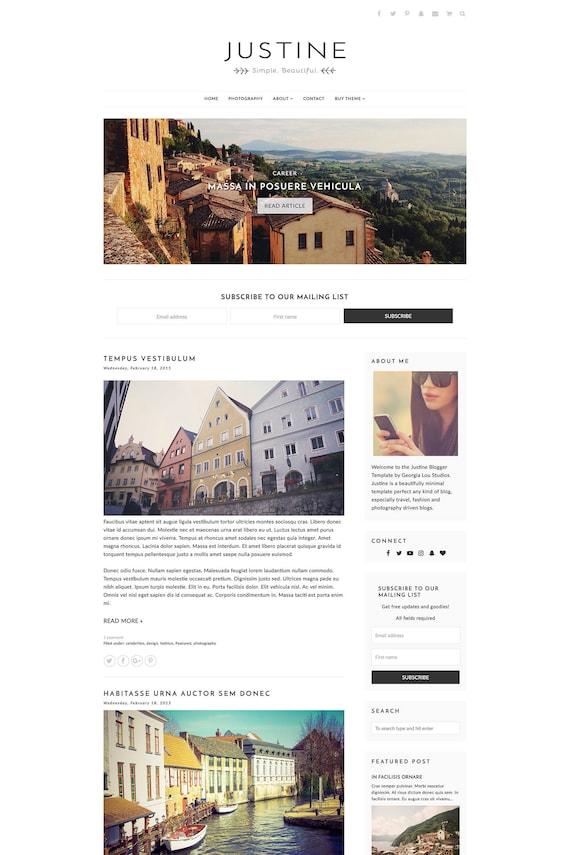 Blog Template Blogger - Responsive - Simple - -Clean Minimal - Customizable  -