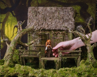 Witch dollhouse 1 24  th scale miniature