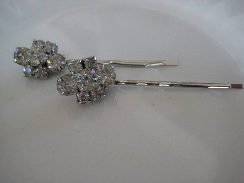 Gift for Her Vintage Hair Pins Bride Wedding Repurposed Jewelry Eco Friendly Rhinestones Bridesmaids