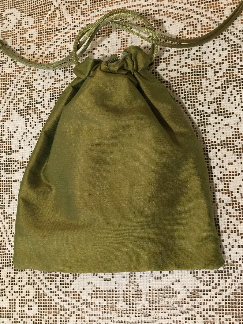 Lined Drawstring Fabric Bag for Favors Set of 3 Sachet Jewelry or Accessories Potpourri