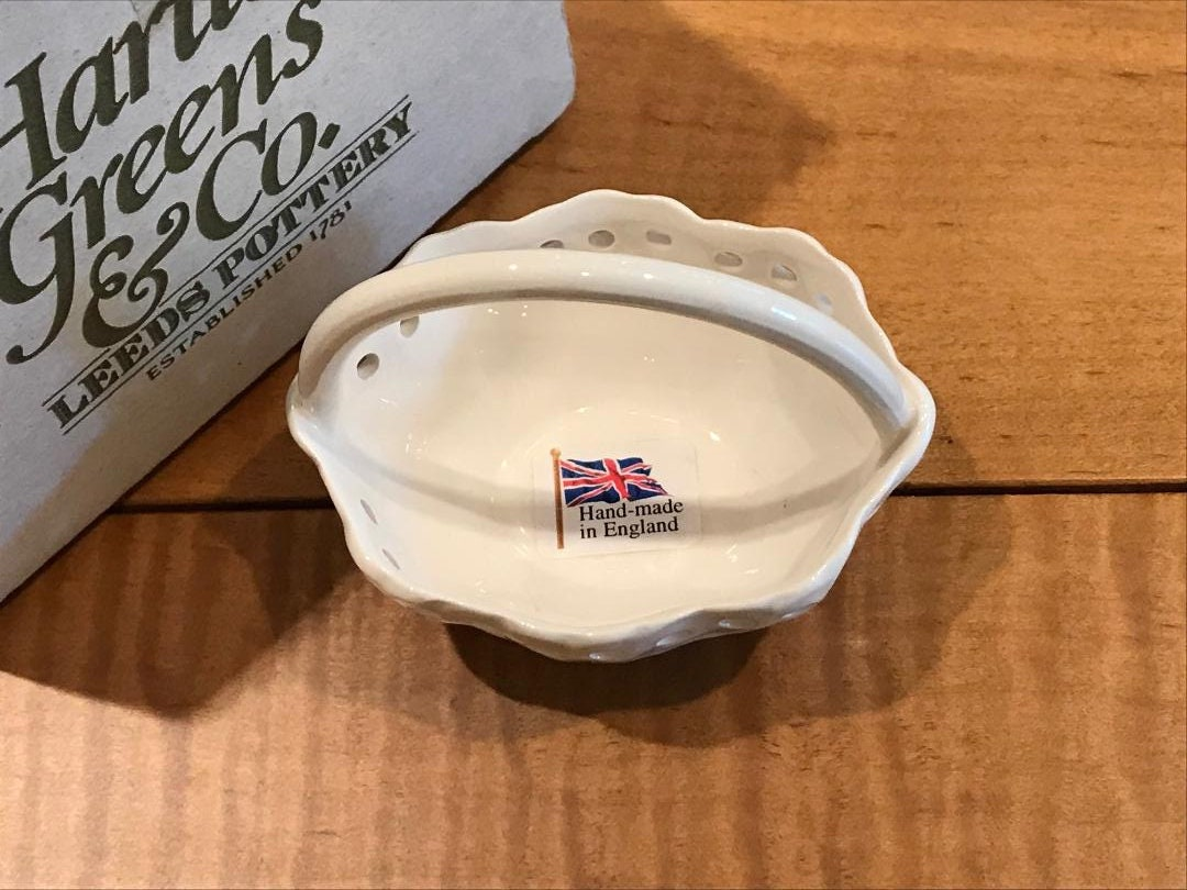 NEW Hartley Greens Leeds Pottery Pierced Oval Sauce Plate